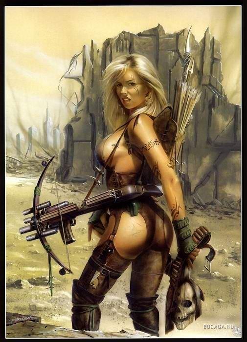 Рисованные девушки воительницы голые123