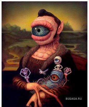 """Любителям сюрреализма:Naoto Hattori Вариации на тему """"Мона Лиза"""""""