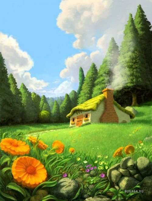 анимация на телефон волшебный лес № 407 бесплатно