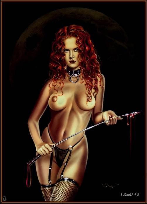 фото рисованные голые девушки