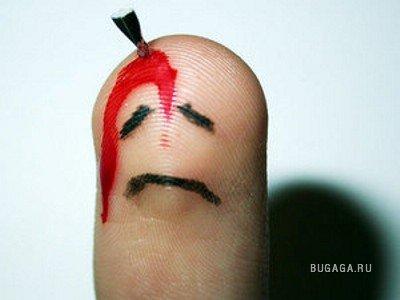 Забавные пальцы - отличный креатив :)