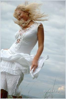 Девушки и ветер