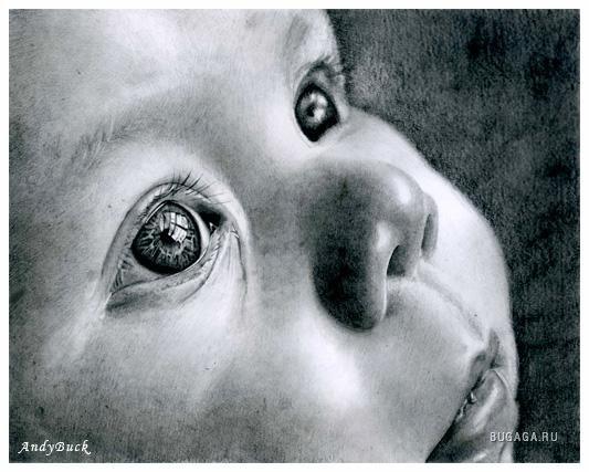 Удивительные рисунки карандашом, Andy Buck.