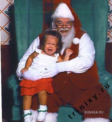 Этот страшный Санта =)
