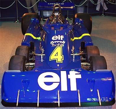 '76 Tyrrell P34 - самый успешный шестиколесный болид Формулы 1.