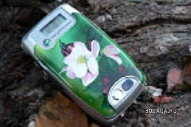 Аэрография. мобильные телефоны