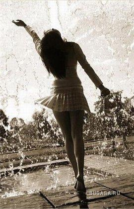 дождь и зонты
