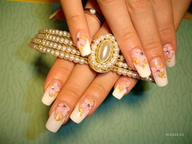 Будь в курсе.  В моду вошло новое украшение ногтей! (фото).  Украшение ногтей просто цветным лаком или рисунком...