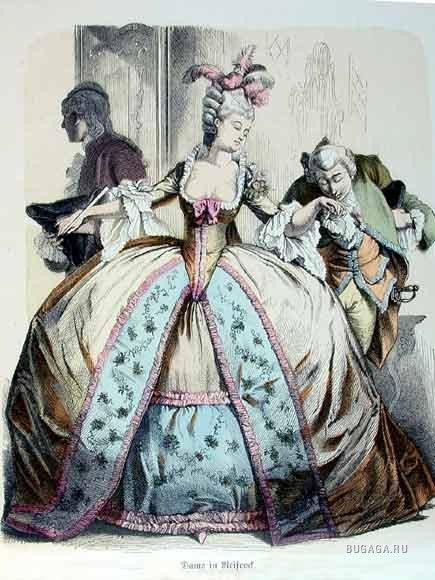 рококо и классицизм в костюме 18 века.