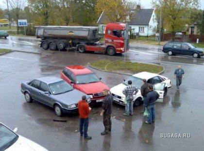 Три Audi попали в аварию