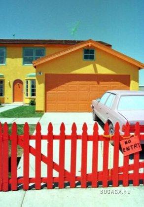 Человек, который очень увлёкся мультом про Симпсонов , в жизни построил себе точно такой же дом