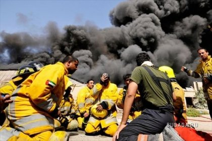 Сильный пожар в городе Дубай