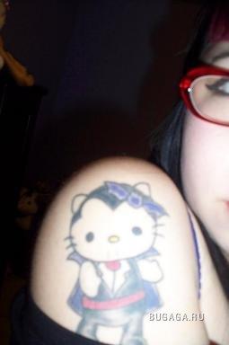 Тату Hello Kitty (42 картинки)