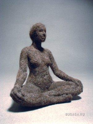 Скульптуры из войлока Stephanie Metz