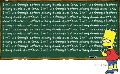 Надписи Барта Симпсона на доске