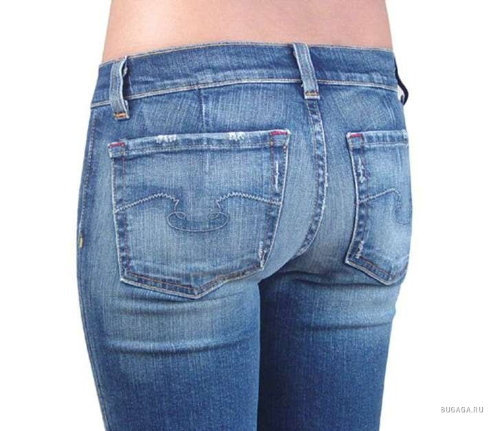 попа через джинсы