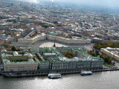 Санкт-Петербург с высоты птичьего полета (15 фото)