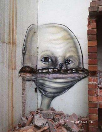 Граффити на развалинах в Бразилии