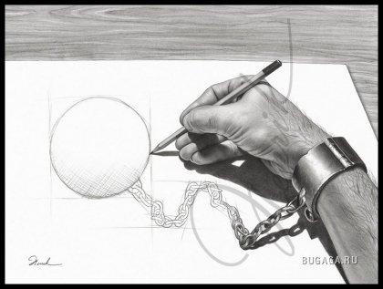 Рисунки карандашом Henrikа Moses