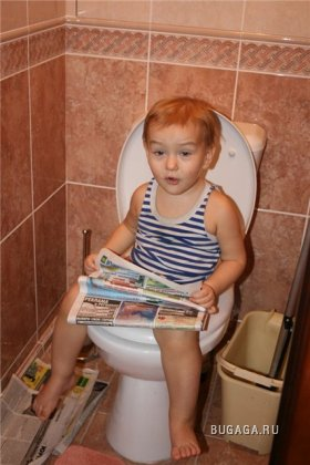 Детки тоже увлекаются чтением ;)