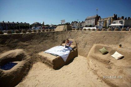 В Британии открылся первый в мире отель из песка