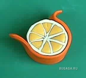 Пластелиновый апельсин