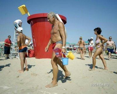 Пляж для гигантов в Римини