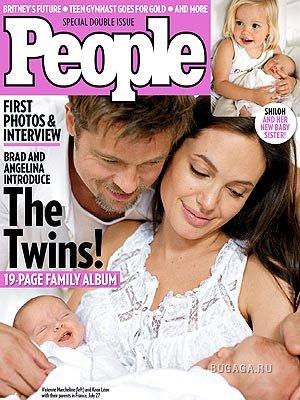 Семейный альбом Джоли-Пит в журнале People