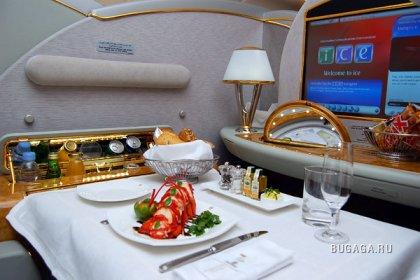 Питание на борту самолетов международных авиалиний