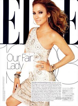 J.Lo for Elle (Октябрь 2008)