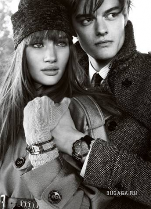 Rosie Huntington-Whiteley и Sam Riley, фотограф Mario Testino для Burberry Fall Winter 2008