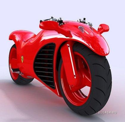 Мотоцикл Ferrari с двигателем V4 и тачскрин-управлением