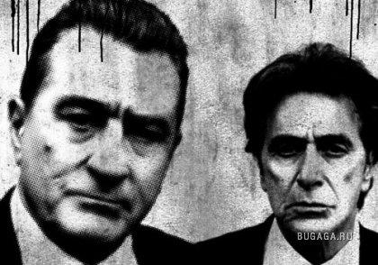 """Аль Пачино и Роберт Де Ниро в - """"Праведное убийство""""."""