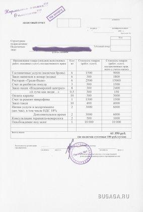 Финансовый отчёт за командировку
