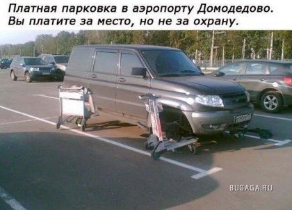 Элитная парковка в аэропорту Домодедово