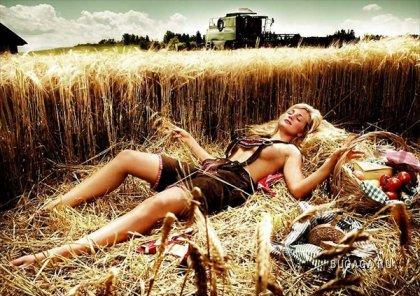 Фермеры разделись