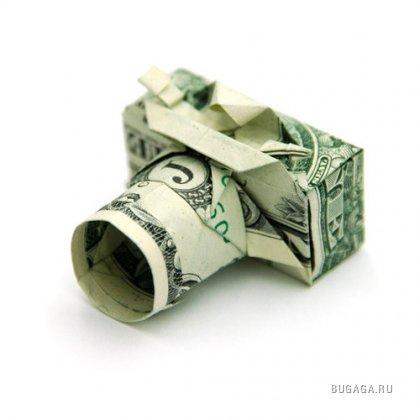 Оригами из купюры в один доллар