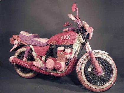 Вязаный мотоцикл от бабушки ;)