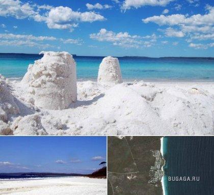 Пляжи с необычным песком