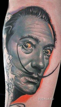 Портретные татумровки мастера Майка Девре