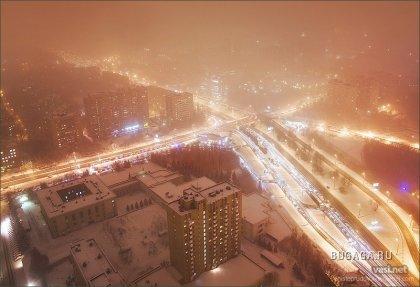 Зима с высоты 150 метров