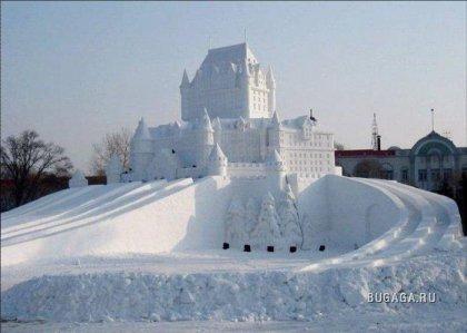 Снежные скульптуры (18 фото)