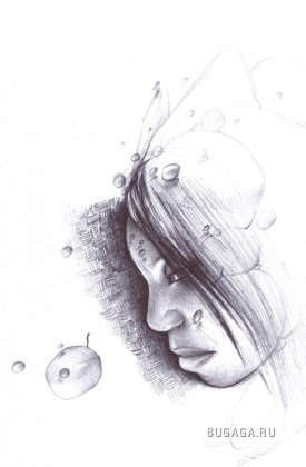 Рисунки карандашом. Художник Winfred Hawkins