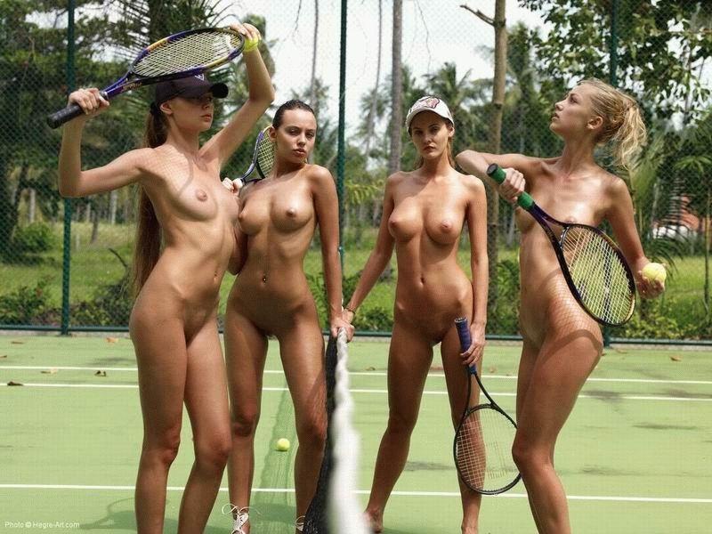 Голые девушки реально играют в теннис фото 459-414