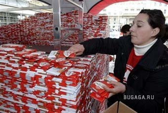 В Хорватии построили замок из 100 тысяч плиток шоколада