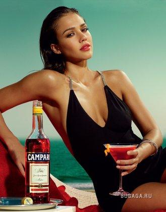 Джессика Альба (Jessica Alba) в календаре Campari 2009 (12 фото)