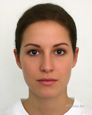 фото лицо фас