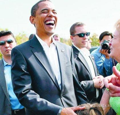 Обама и девочка