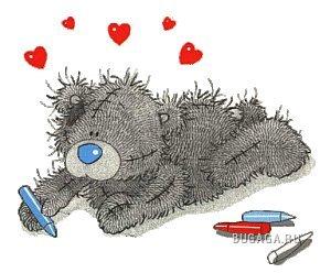 Валентинки от мишки Тедди