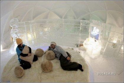 Ледяной отель для двоих: романтика по-японски